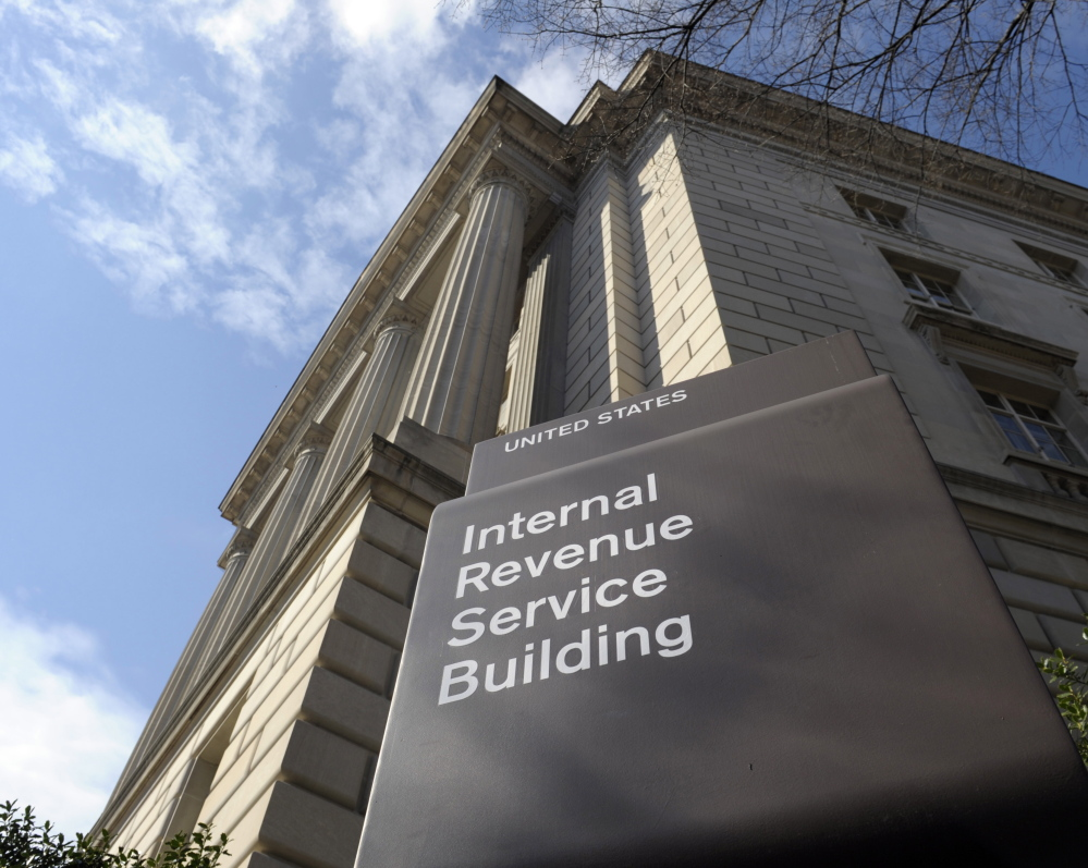 The Internal Revenue Service building in Washington is seen in March. A new poll shows that those who struggle to fill out their tax returns are in a minority.