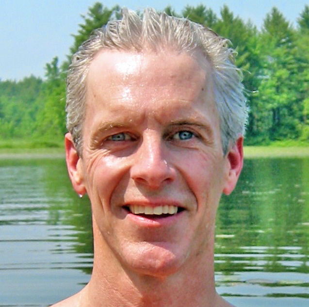"""Stephen Underwood stars in """"UnderwaterGuy,"""" a one-man play centering on his experiences as a free diver, a Good Theater production continuing at St. Lawrence Arts in Portland."""