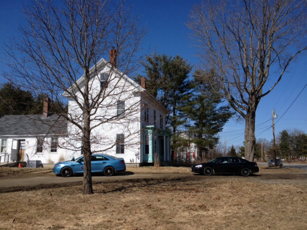 Maine State Police at a Sidney residence Thursday afternoon, after uncovering what authorities say is a sex trafficking operation.