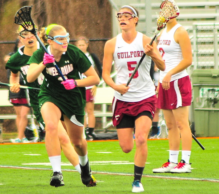 Lily Colley's success this spring at Guilford College shows she hasn't missed a step from studying last fall in Germany, where she also found opportunity to play her favorite game.