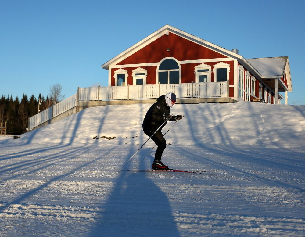 Will Sweetser, director of competitive programs at the Maine Winter Sports Center, skis in Presque Isle in January. The center wants to raise $900,000 for next year's operations and the creation of an endowment program.