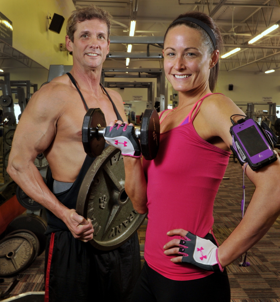 Father and daughter, Ned and Melissa Boxer will be in the Pine Tree State Bodybuilding, Figure and Bikini Championships on Saturday at the Westbrook Performing Arts Center. Ned will compete in bodybuilding, his daughter in the bikini competition.