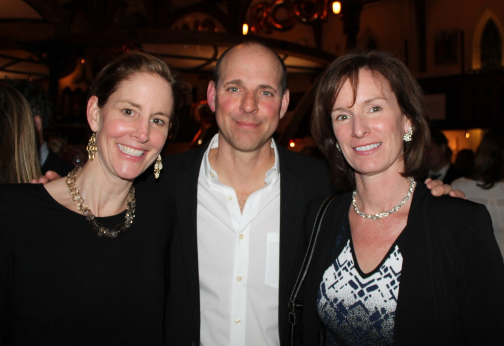 Writers and Telling Room founders Susan Conley, Michael Paterniti and Sara Corbett at the literary ball at Grace in Portland.