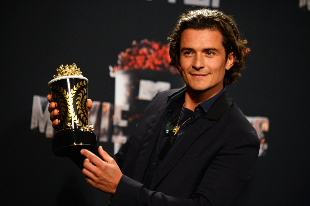 """Orlando Bloom won the MTV Movie Award for best fight for """"The Hobbit: The Desolation of Smaug"""" on Sunday in Los Angeles."""