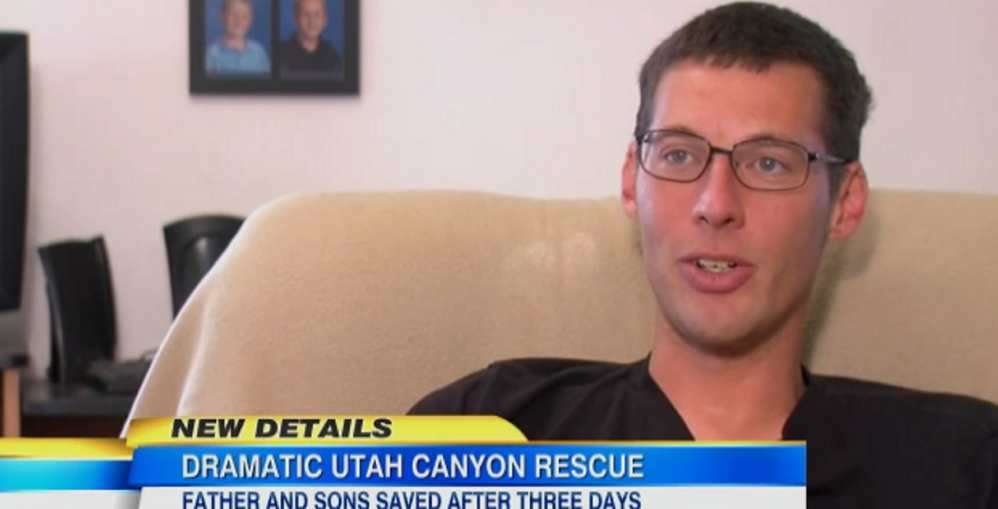 Jason Knight describes his ordeal in Utah after becoming wedged between canyon walls.