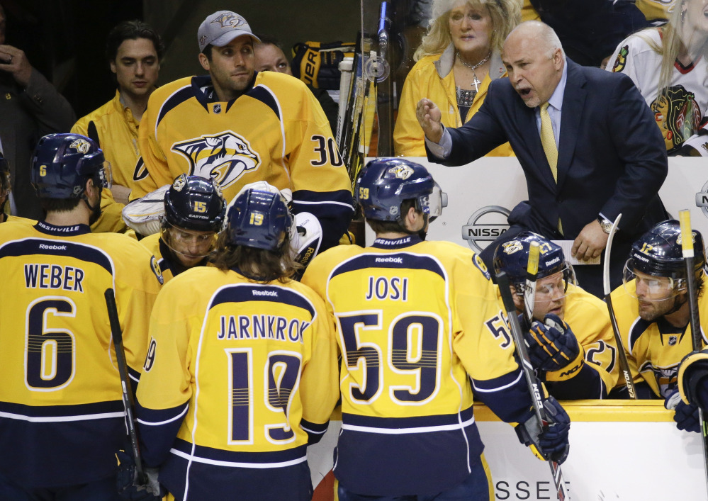 Barry Trotz took the Nashville Predators to the postseason seven times in an eight-year span, but failed to lead the small-market team into the playoffs the last two seasons.