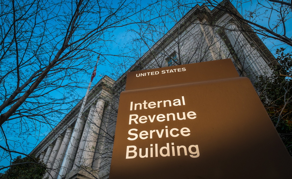 A new day dawns on the headquarters of the Internal Revenue Service in Washington. Tuesday is the federal tax filing deadline for most Americans, but many don't meet it.