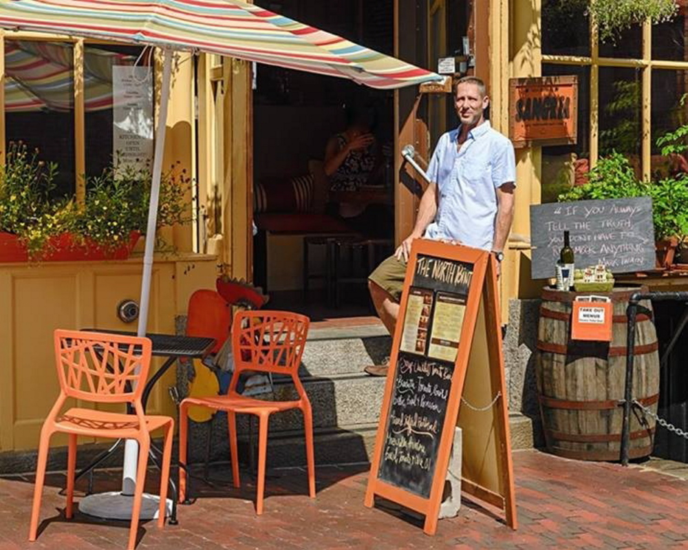 Dan Talmatch outside of The North Point in Portland. Talmatch and his brother Noah co-own the Old Port establishment, which is open until 1 a.m. daily except Sunday (11 p.m.).