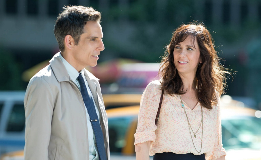 "Ben Stiller and Kristen Wiig in ""The Secret Life of Walter Mitty."""