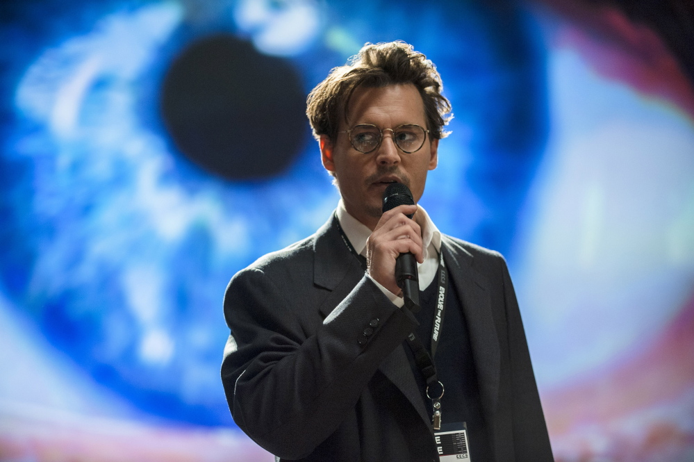 "Johnny Depp in ""Transcendence."""