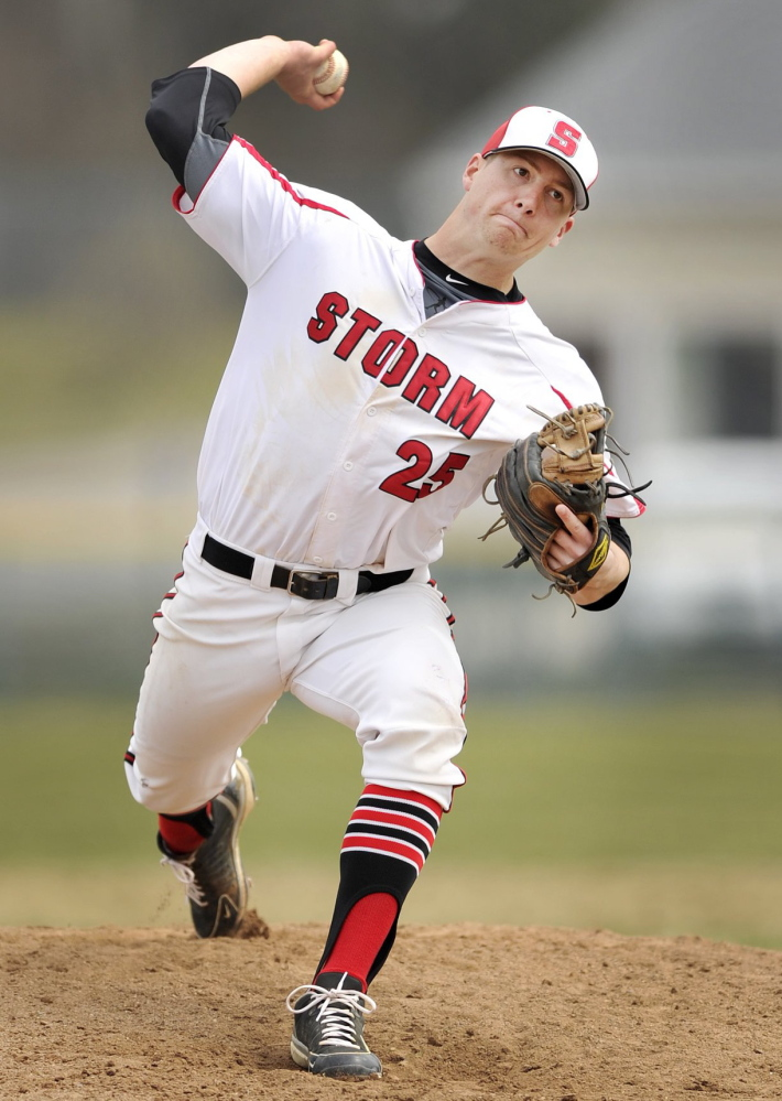 Scarborough's Ben Greenberg was the Maine Sunday Telegram's Player of the Year after going 6-0.