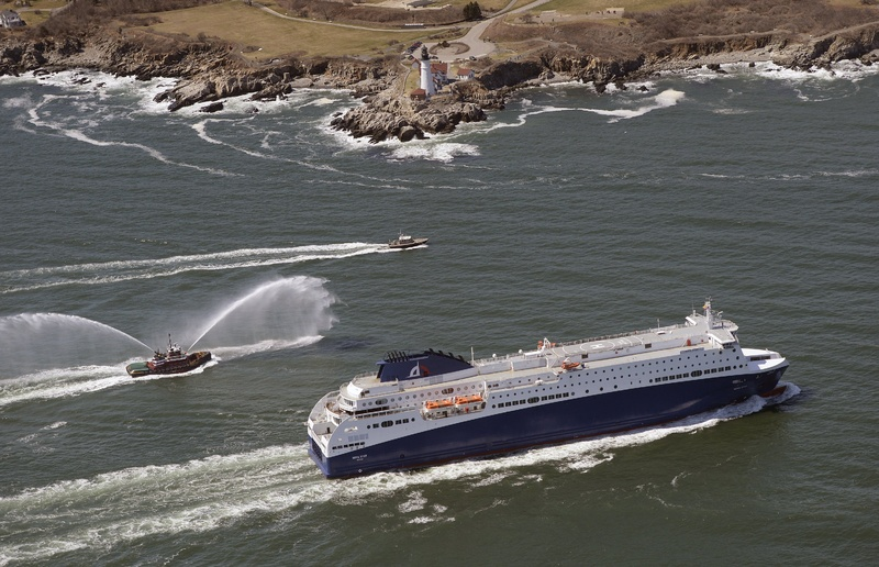 The Nova Star ferry cruises past Portland Head Light as it arrives in Portland Harbor on Thursday.