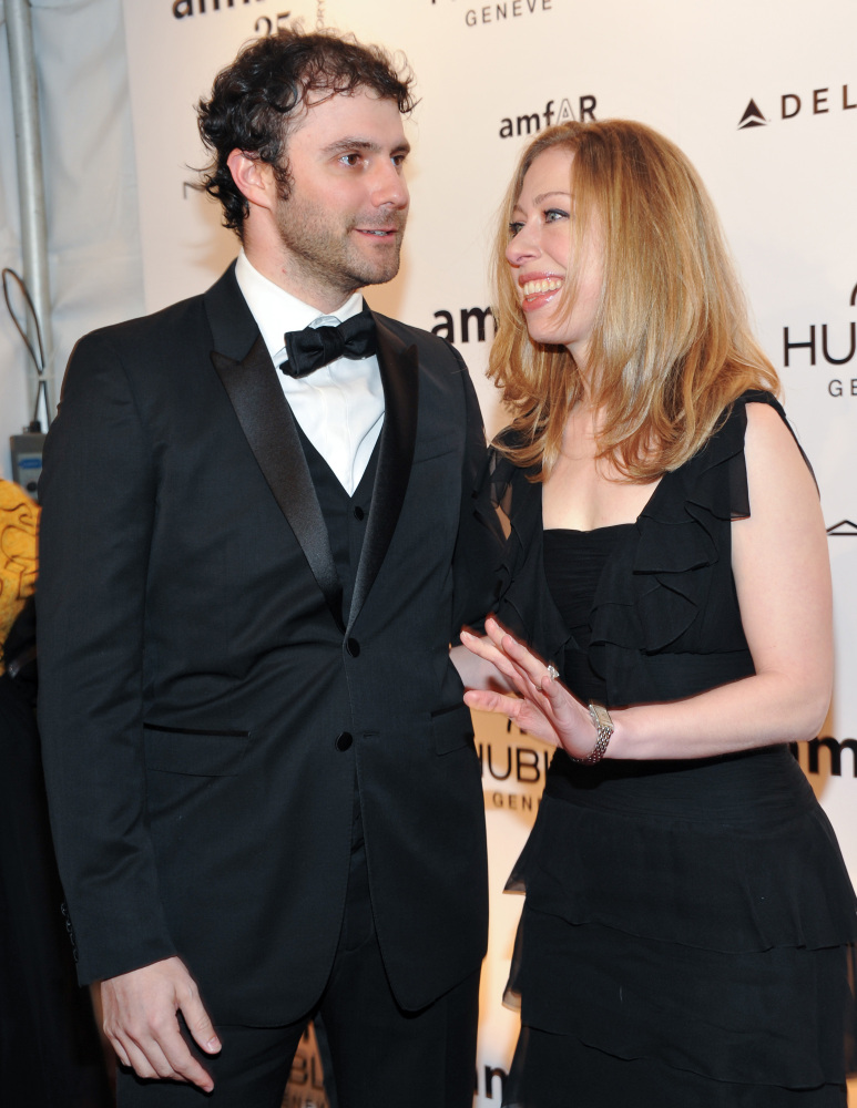 Chelsea Clinton and husband Marc Mezvinsky are expecting their first child.