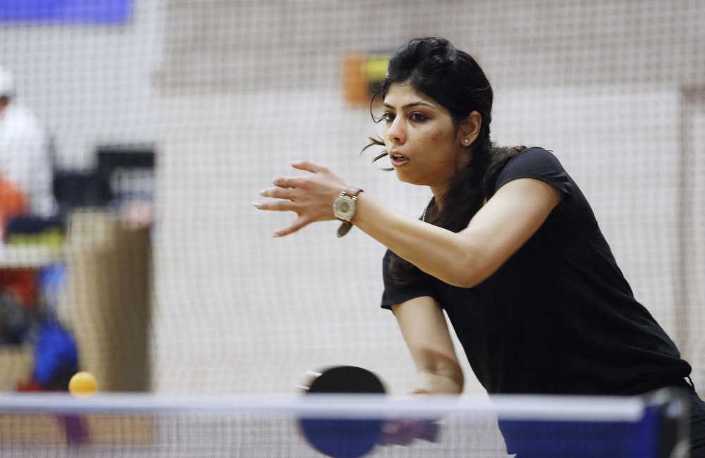 Kanchan Thakur of Portsmouth, N.H., competes in Class C.