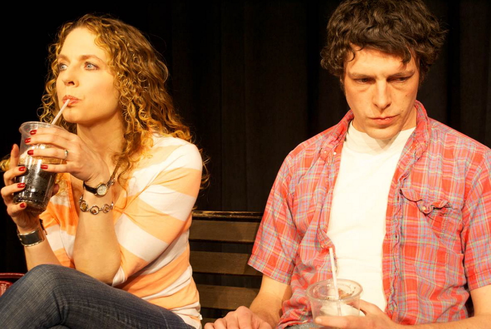 "Jennifer Porter as Lee and Stowell Watters as Hank in The Originals' production of ""Marvin's Room,"" a funny, poignant play opening Friday and continuing through May 3 at Saco River Theatre in Buxton"