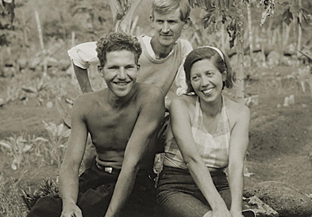 "Actual footage of the 1930s ""Galapagos Affair"" participants includes this image of the Baroness Eloise von Wagner and her two lovers."