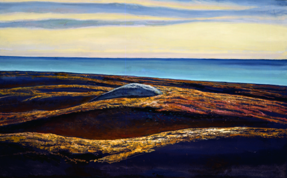 "Rockwell Kent, ""Lone Rock and Sea,"" 1950, oil on canvas."