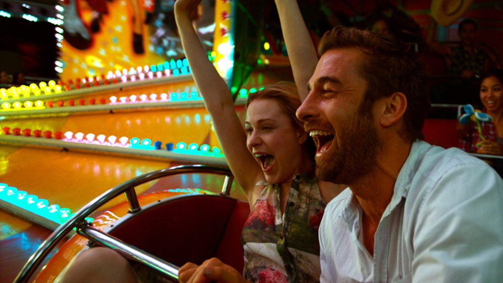 "Evan Rachel Wood and Scott Speedman in ""Barefoot."""