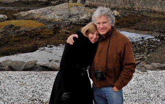 "Jeff Widener met his future wife, Corrina Seidel, near Tiananmen Square in Beijing in 2009, 20 years after the former AP photographer captured the famous ""Tank Man"" photo during the Tiananmen protests in 1989. The couple married in 2010 and are seen here in Scotland in 2011."