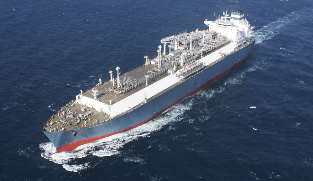 Hoegh's liquefied natural gas carrier Independence is seen during its sea trial in January. Later this year, the 984-foot ship will slide up to Lithuania's Baltic port of Klaipeda, where the floating natural gas terminal will play a key role in the Baltic region's struggle to lessen its energy dependence on Russia.