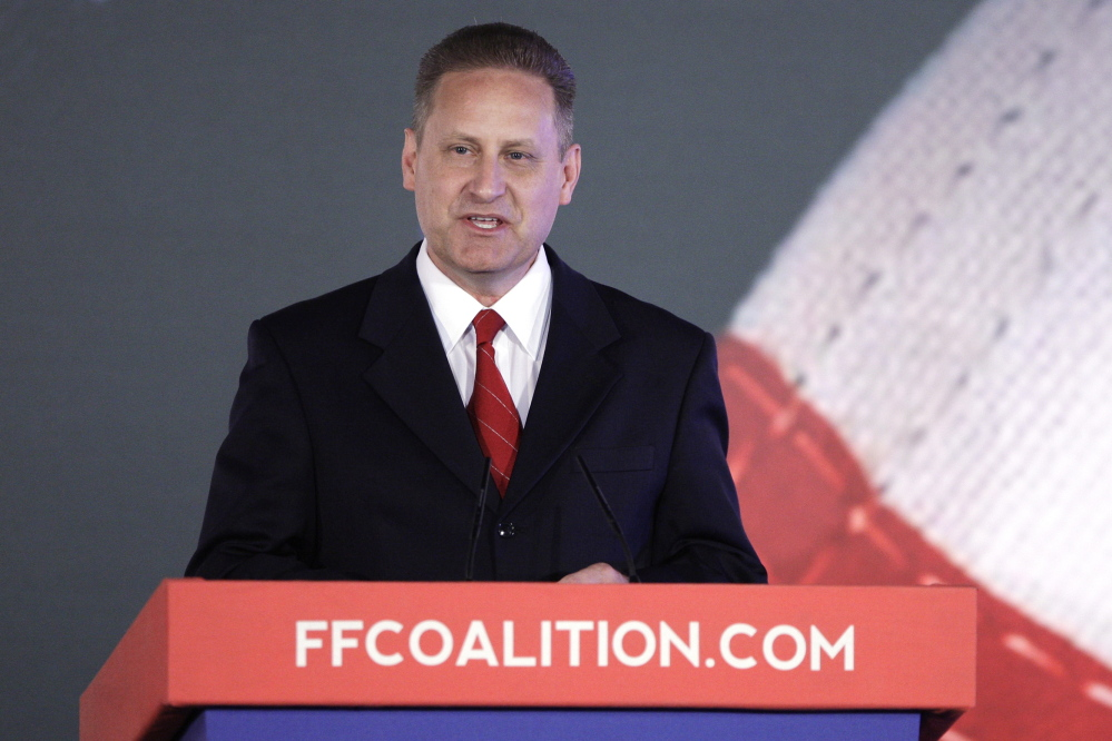 Hobby Lobby President Steve Green addresses the Faith & Freedom Coalition Road to Majority Conference in Washington in 2013.