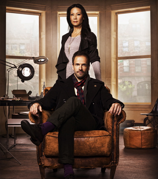 Lucy Liu and the recovering Johnny Lee Miller of 'Elementary.'