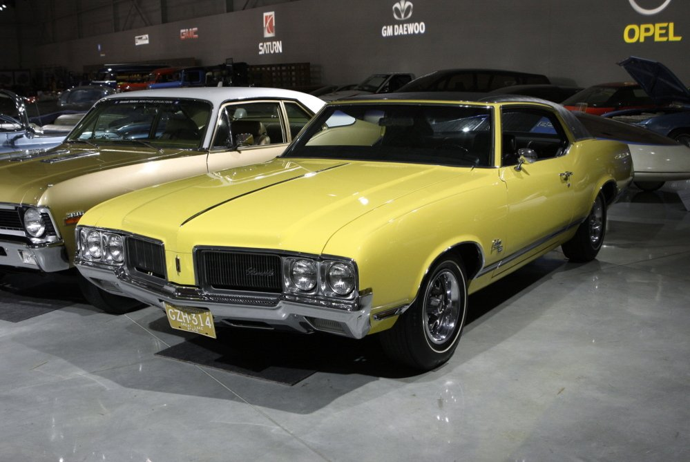 In this 2008 file photo, a 1970 Oldsmobile Cutlas SX is shown at the General Motors Heritage Center in Sterling Heights, Mich.