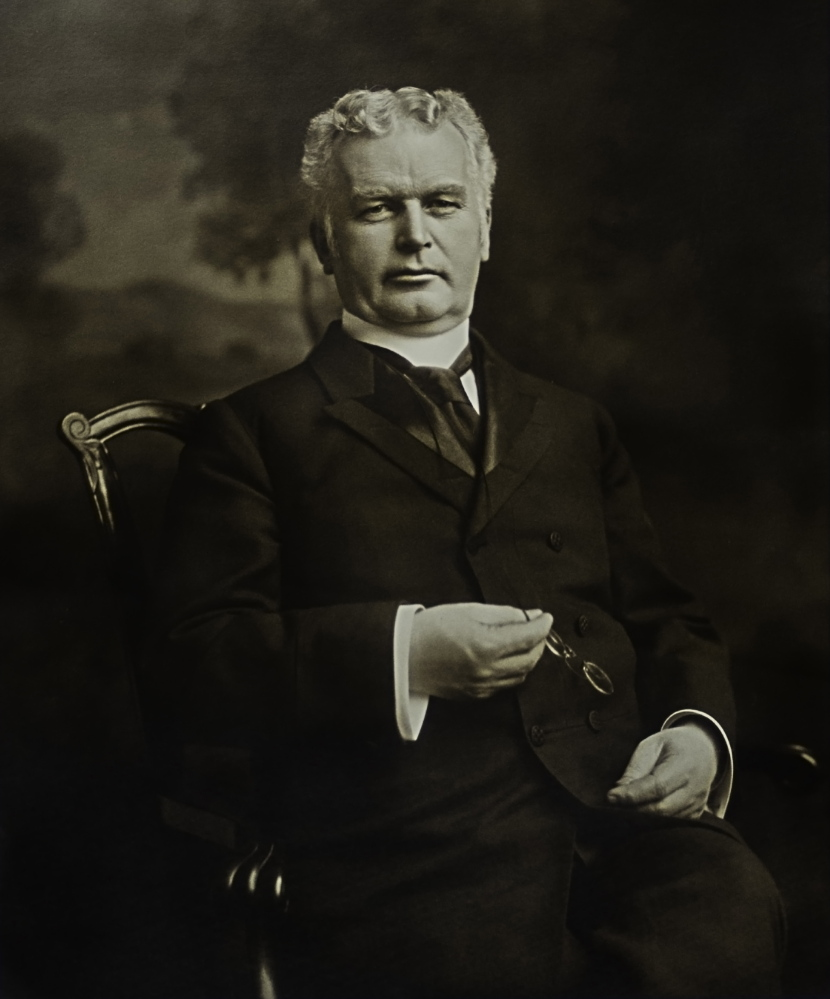 Colin Chisholm claims he is a descendant of Hugh J. Chisholm, a Portland entrepreneur who founded International Paper, shown in a detail shot taken from a photo provided by Maine's Paper & Heritage Museum.