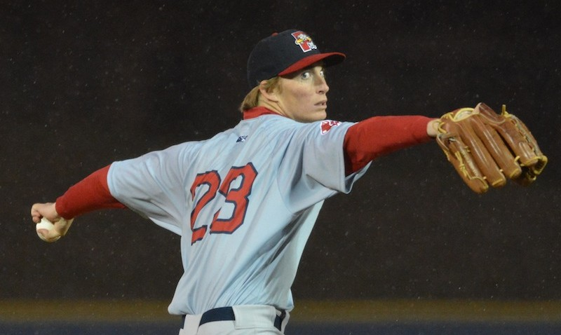 Sea Dogs pitcher Henry Owens tossed a six no-hit innings against the Reading Fightin' Phils in April.  2014 File Photo/Ben Hasty