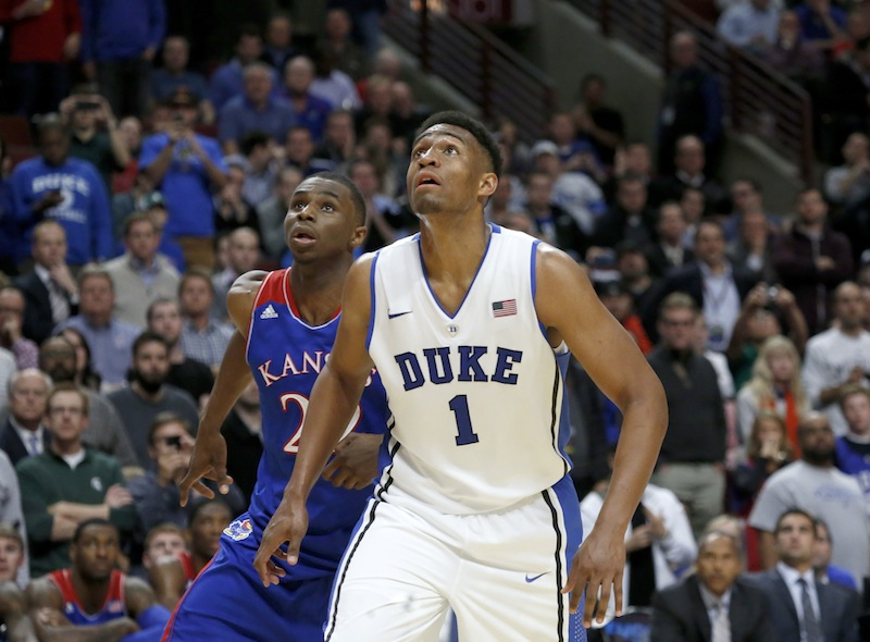 Duke's Jabari Parker and Kansas' Andrew Wiggins are projected to be two of the top draft picks in this year's NBA Draft. United Center