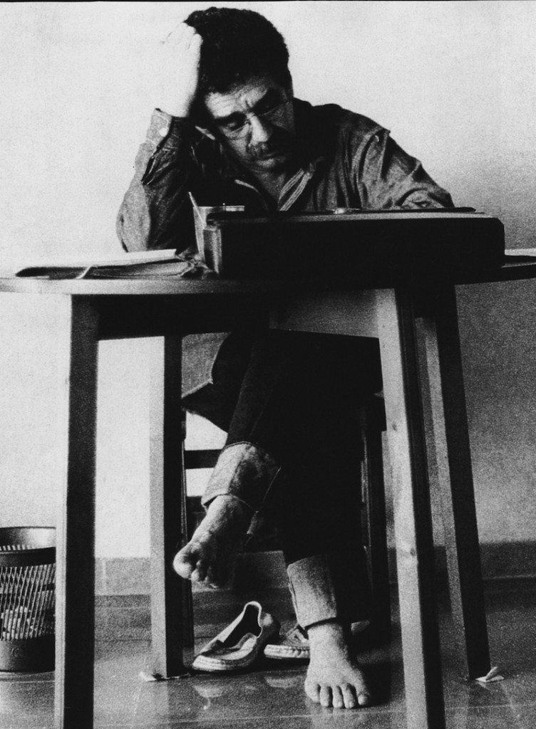 In this 1972 photo released by the Fundación Nuevo Periodismo Iberoamericano (FNPI), Colombian author Gabriel Garcia Marquez seen in an unknown location. The author's magical realist stories exposed tens of millions of readers to Latin America's passion, superstition, violence and inequality. The FNPI was founded by Garcia Marquez.