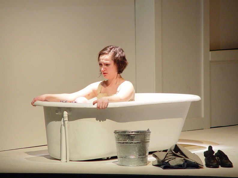 """Sarah Dube portrays Dora in the USM Theatre Department's 2011 production of """"Airswimming,"""" directed by Meghan Brodie. Given Brodie's """"brilliance, kindness and humor,"""" laying off the assistant professor is """"a monumental mistake,"""" a USM graduate says."""