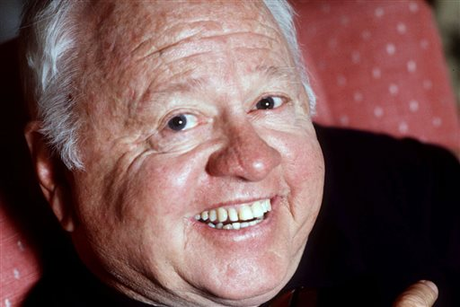Entertainment legend Mickey Rooney is shown in 1987.