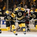 The Boston Bruins and Detroit Red Wings will play Game 3 of a first-round NHL hockey playoff series Tuesday night.