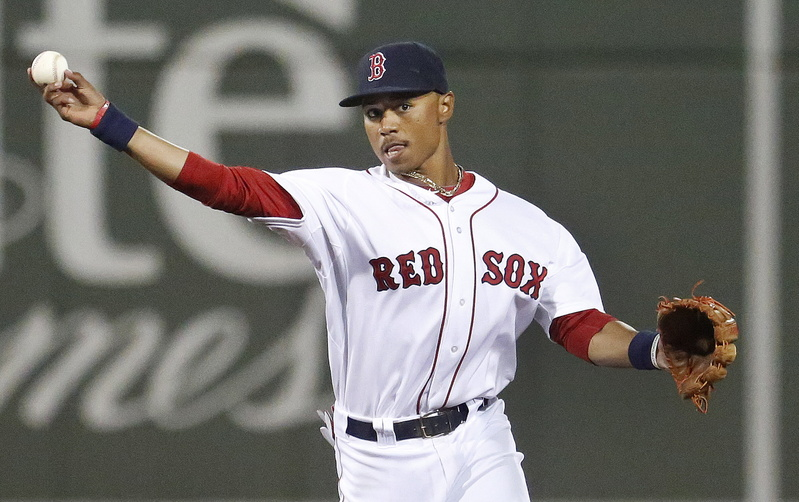 Mookie Betts wore a Red Sox uniform in spring training and played 54 games with the Sea Dogs this season. Now's he's been called up to Triple-A Pawtucket.
