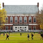 Students and faculty move through the mall at the University of Maine on a fall afternoon in October 2013.