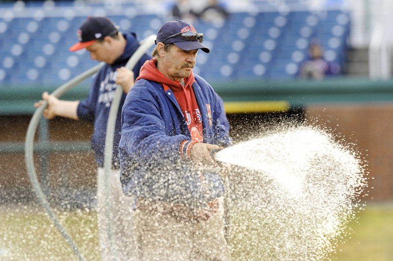 Sea Dogs groundskeeper Rick Anderson