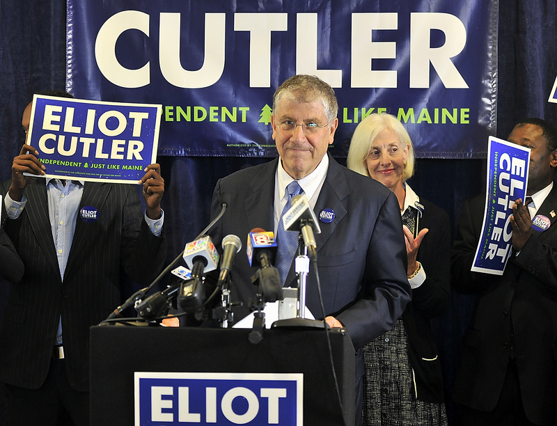 Independent candidate for governor Eliot Cutler on Tuesday outlined his vision for Maine's environment.