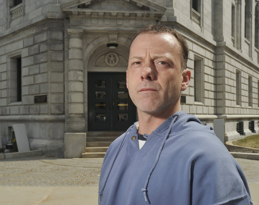 Keith Ayotte claimed in a federal lawsuit that Maine State Prison guards threatened him for reporting a beating by another inmate armed with a prison-issue padlock.