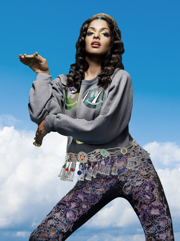 "M.I.A., who is the mother of a 5-year-old, tours only sporadically now because ""I want to be there for him as much as possible."""