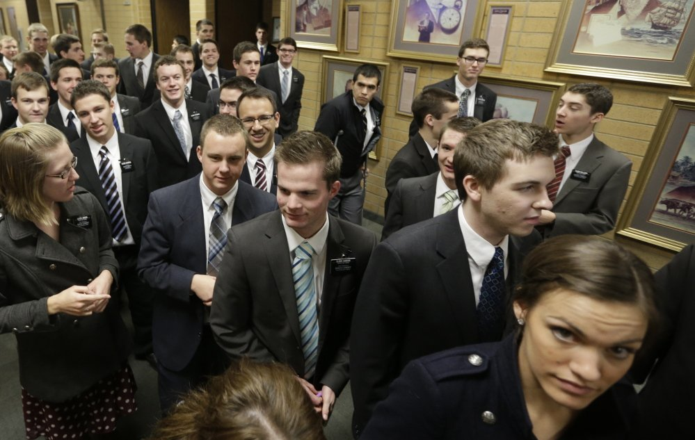 More young Mormons are attending the Missionary Training Center in Provo, Utah, but membership in the Church of Jesus Christ of Latter-day Saints has not increased proportionately.