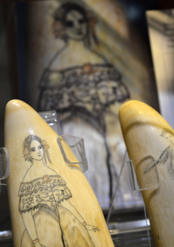 Detail of scrimshaw