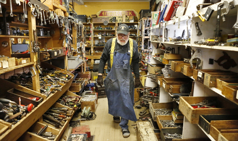Skip Brack is a tool picker, or wholesale buyer of tools, which must be repaired, cleaned, polished, cataloged, priced and then sold.