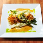 A baked haddock preparation at The Dockside Grill, which fills the space formerly occupied by the Falmouth Sea Grill.