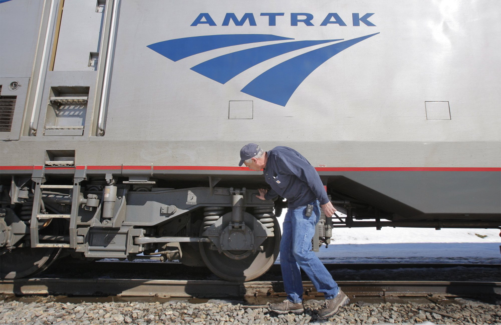Amtrak says it could take weeks to repair winter damage to tracks.
