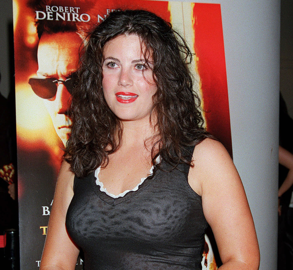 """In this July 11, 2001, file photo, Monica Lewinsky arrives for a special screening of """"The Score"""" in New York. Lewinsky says there's no question her boss, Bill Clinton, """"took advantage"""" of her when he was president."""