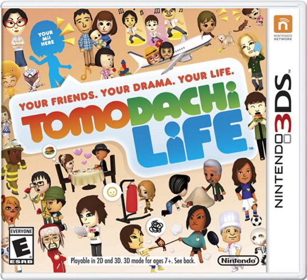 "This photo provided by Nintendo shows the cover of the video game, ""Tomodachi Life."" The gaming company said it wouldn't bow to pressure to allow players to engage in romantic entanglements with characters of the same sex in the English version of the game following a social media campaign launched last month seeking virtual equality for the game's characters, which are modeled after real people."