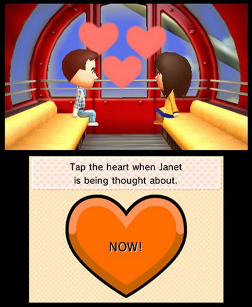 "This photo provided by Nintendo shows a screenshot from the video game, ""Tomodachi Life."""