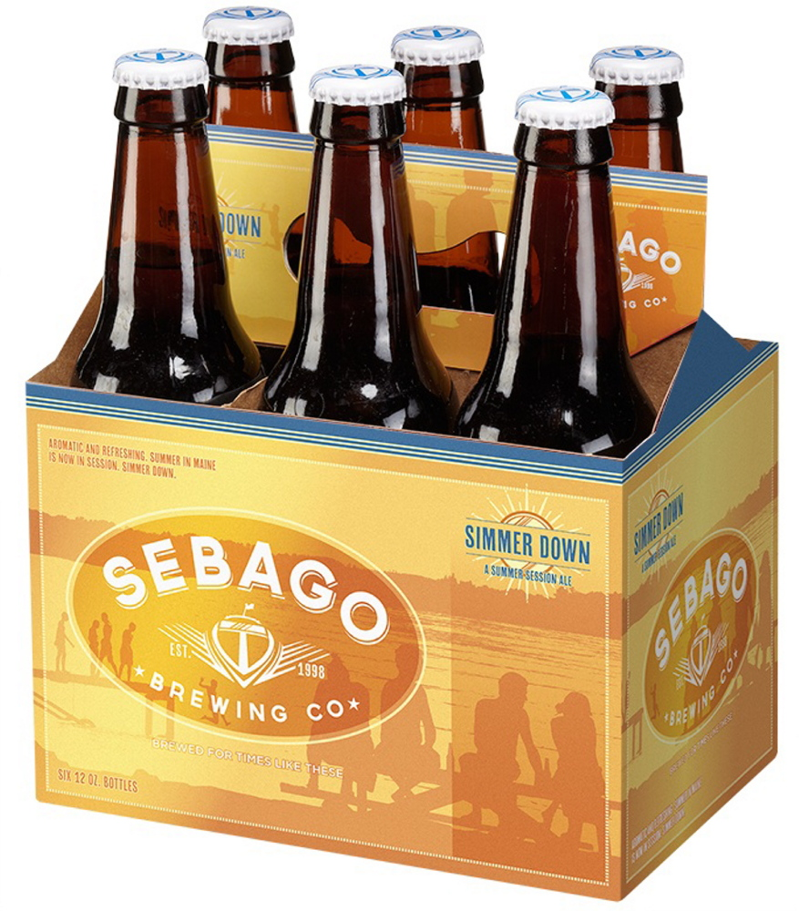 """Simmer Down """"is not your typical summer beer … but instead a good session ale,"""" says Kai Adams of Sebago Brewing."""