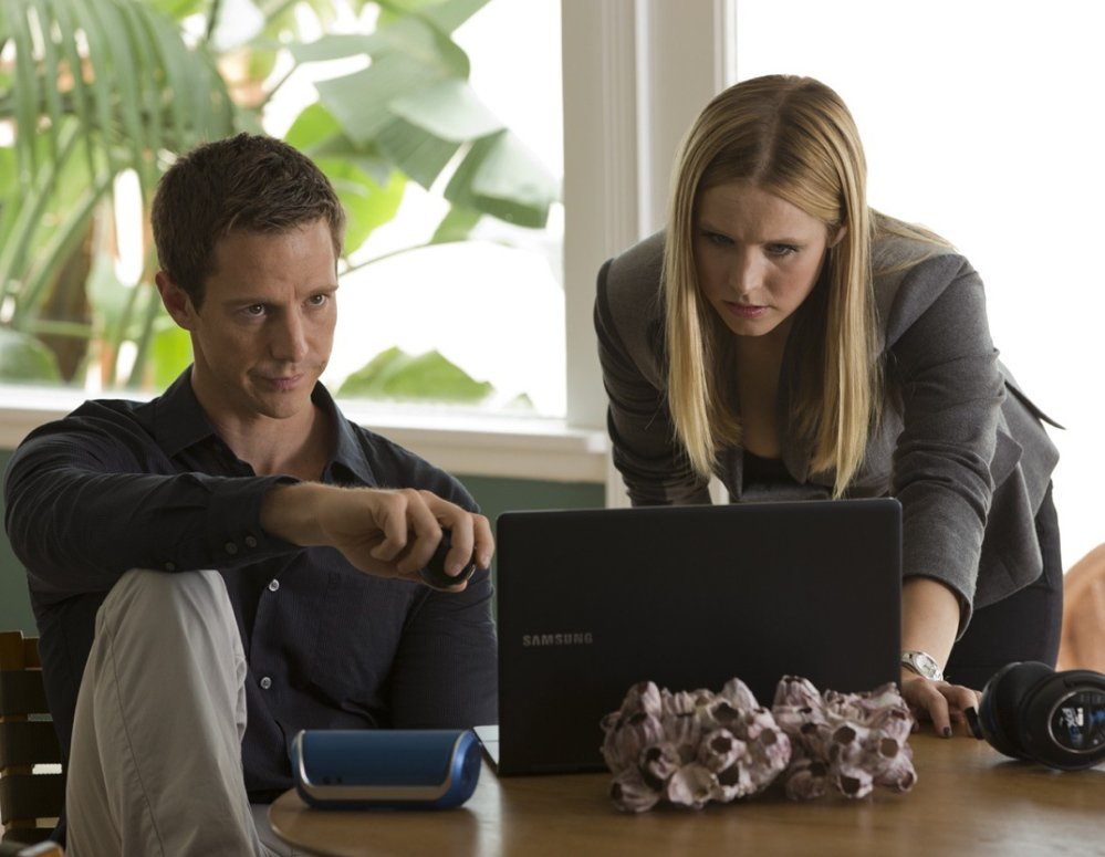 "Jason Dohring stars as Logan Echolls and Kristen Bell stars in the title role in ""Veronica Mars."""